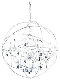 brushed nickel orb chandelier traditional chandeliers crystal 6 light polished clear