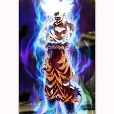 Goku Limit Breaker Light Poster Dragon Ball Super Goku Ultra Instinct Japan Anime Comic