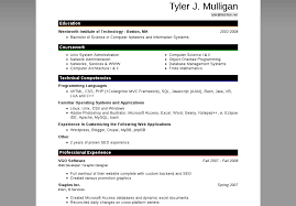 It Resumes Templates Resume For Microsoft Word 2010 Format 2015