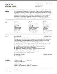 Resume Templates Retail Retail Cv Template Sales Environment Sales  Assistant Cv Shop