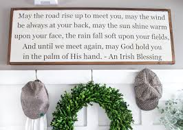 diy irish blessing sign and entryway blesserhouse com this is so cute