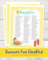 Summer Fun Designs Summer Fun List Printable Lil Luna