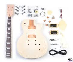 diy lp build your own guitar kit mahogany flamed maple kbg lp mt