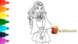 Lonnie from descendants wicked world. How To Color Evie Disney Descendants 2 Coloring Page Hd Youtube