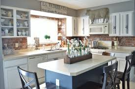 Farmhouse Kitchen Furniture Painted Kitchen Cabinets Adding Farmhouse Character The Other