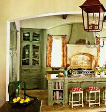 vintage kitchen furniture. Sensational Vintage Kitchen Design Ideas With Rustic Hanging Lamps Over Distressed Cabinets Set In Country Interior Furniture