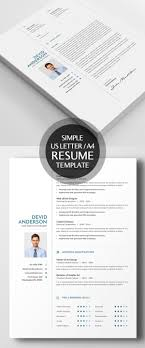 New Simple Clean Cv Resume Templates Design Graphic Design