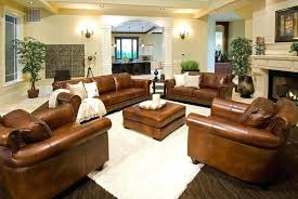 Light Brown Leather Sofa Living Room Ideas Com On Throughout Colored