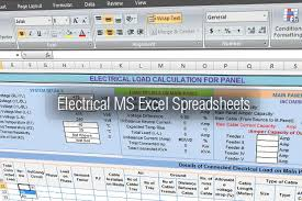 Electrical Tools Ms Excel Spreadsheets Accounting