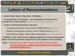 letter of recommendation army form special operations recruiting battalion fort bragg nc ppt video
