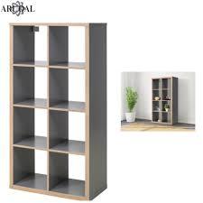 ikea kallax grey wood effect 8 shelving unit display storage bookcase 77x147cm