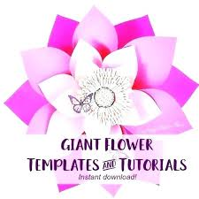 Giant Paper Flower Template Pdf Paper Flower Template Pdf Giant Free 18