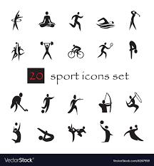 Summer olympic games 20 twenty icon set ...