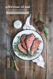 smoked prime rib roast with herb garlic