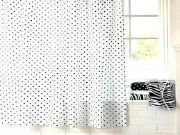 polka dot shower curtain gold white from bedroom beauty