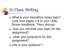 in class writing what is your expository essay topic look over in class writing what is your expository essay topic