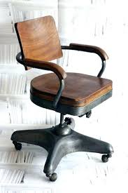 industrial office chair. Industrial Desk Chair Vintage Style Leather St Iron Wood Swivel Old Office E