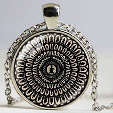 mysterious mandala necklace sacred geometry jewelry spiritual accessory black buddhist om symbol yoga pendant for men