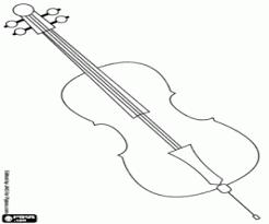 Kleurplaat Een Cello Voor Rockmuziek Kleurplaten
