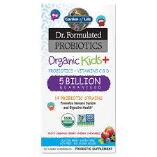com garden of life dr formulated probiotics organic kids berry cherry acidophilus and probiotic promotes immune system digestive health gluten
