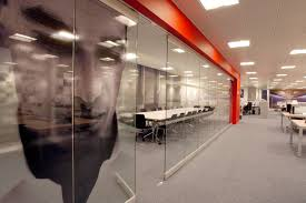 glass office wall. atrium glass wall for office