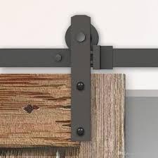 industrial furniture hardware. 2018 4 8ft Black Steel Rustic Industrial Single Sliding Barn Wood Door Hardware Straight Roller Track Kit Wardrobe From Homedecor1, $55.28 | Dhgate.Com Furniture
