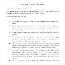 Human Resources Manager Job Description Templates – Rigaud