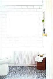grey beveled subway tile white beveled subway tile white tiles grey grout bathroom white beveled subway