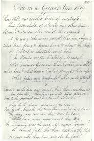 ode on a grecian urn language tone and structure john keats  ode on a grecian urn transcribed by george keats 1820 energy