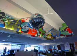 google office cubicles. googleplex google cubicles disco ball office
