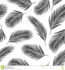 Palmbladenpatroon 3 Vector Illustratie Illustratie Bestaande Uit