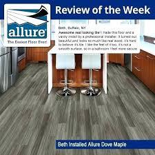 trafficmaster allure white maple allure vinyl plank flooring reviews allure 6 in x in dove maple