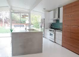 concrete kitchen islands diy countertops mid century modern interior designer