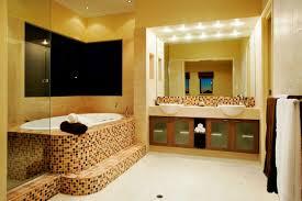 bathroom lighting design ideas. Fine Ideas Vibrant Lighting Idea Of Bathroom With Led Lights Also Mosaic Tile Bathtub Design Ideas L