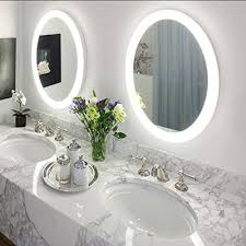lighted wall mirror. round 22 led lighted wall mount bathroom mirror sol with defogger