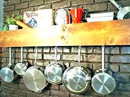 pot rack ideas hanger kitchen s small hanging ceiling mounted kit hooks