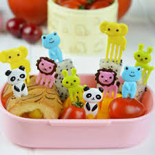Decor Lunch Boxes 60x Kids Creative Animal Food Fruit Picks Forks Lunch Box Bento 60
