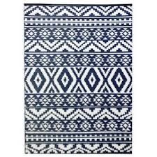 ai aztec reversible outdoor rug 270x180cm navy white