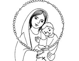 Madonna Con Bambino Piccolo Disegno Da Colorare Disegni Da