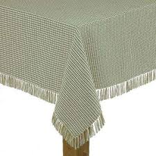 round sage 100 cotton tablecloth