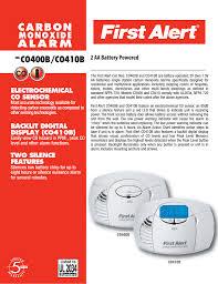 Brk Smoke Detector Red Light Blinking First Alert C0400b Carbon Monoxide Alarm User Manual