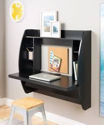 black floating storage wall desk
