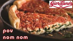 delish giordano chicago deep dish pizza nom nom pov eating las vegas