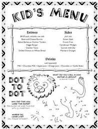 7 Best Menus Images Menu Restaurant Kids Menu Menu Design