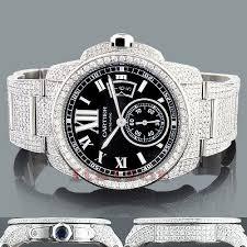 cartier diamond watches for men women diamond cartier de calibre mens watch 27