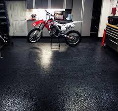 black texturized garage floor covering