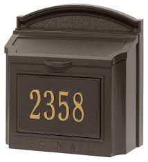 whitehall wall mount mailbox with