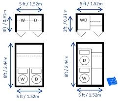 Washer And Dryer Sizes Chart Laundry Room Dimensions