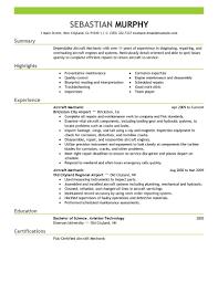 Aircraft Mechanic Resume 0 Advice Techtrontechnologies Com