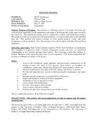 Hvac Resume Objective Hvac Mechanical Engineer Sample Resume Hvac